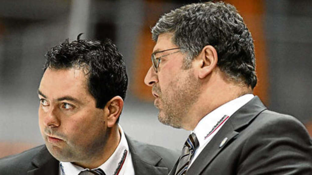Manager Christian Winkler (links) und Coach Pat Cortina