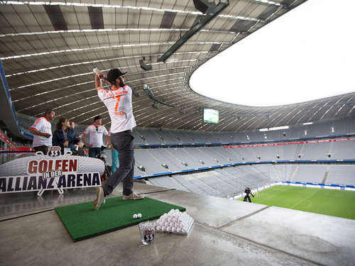 Golfen in der Allianz Arena: So war's