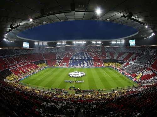 Bilder: Fan-Choreo in der Allianz Arena