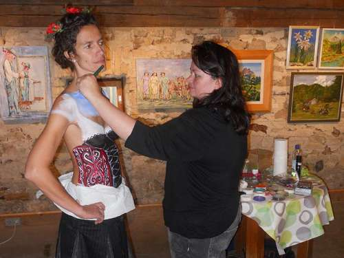 Bodypainting, Skulpturen und Fotos
