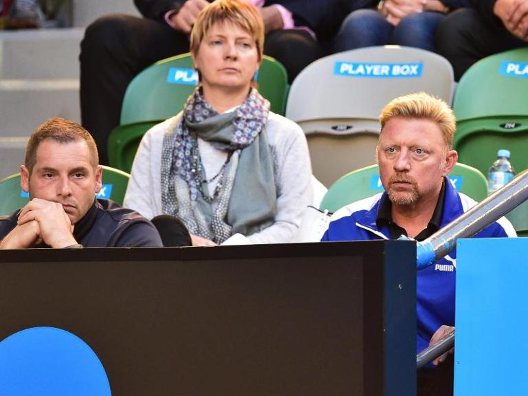 Boris Becker (r) ist der Coach von Novak Djokovic. Foto: Julian Smith