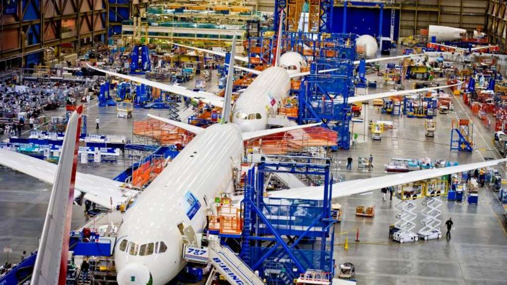 Boeing 787 Dreamliner-Produktion in Everett bei Seattle. Foto: Gail Hanusar/Boeing