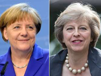 Angela Merkel und Theresa May.