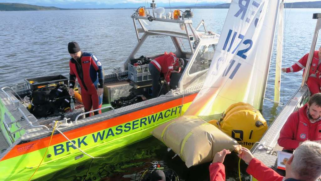 Ammersee Boot Tauchen Unfall BRK