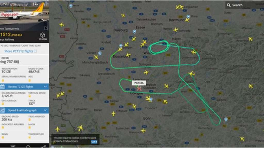 Flugroute Flightradar24