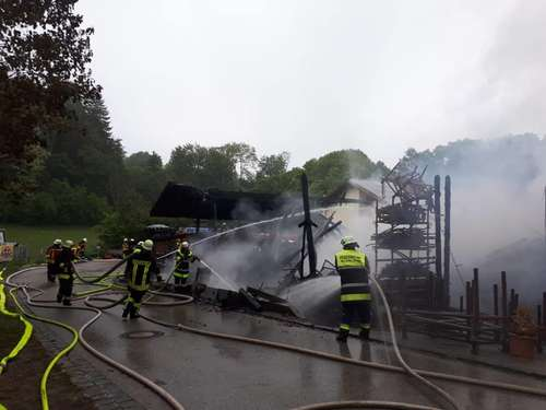 Großbrand in Manthal
