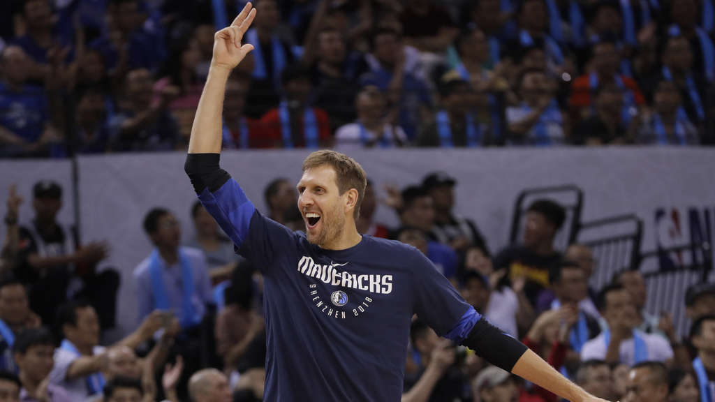 Dirk Nowitzki (Dallas Mavericks) geht in seine 21. NBA-Saison.