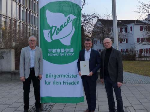 "Landsberger OB gehört nun zu den ""Mayors for Peace"""