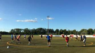 Die Red Hocks Kaufering im Sommertraining