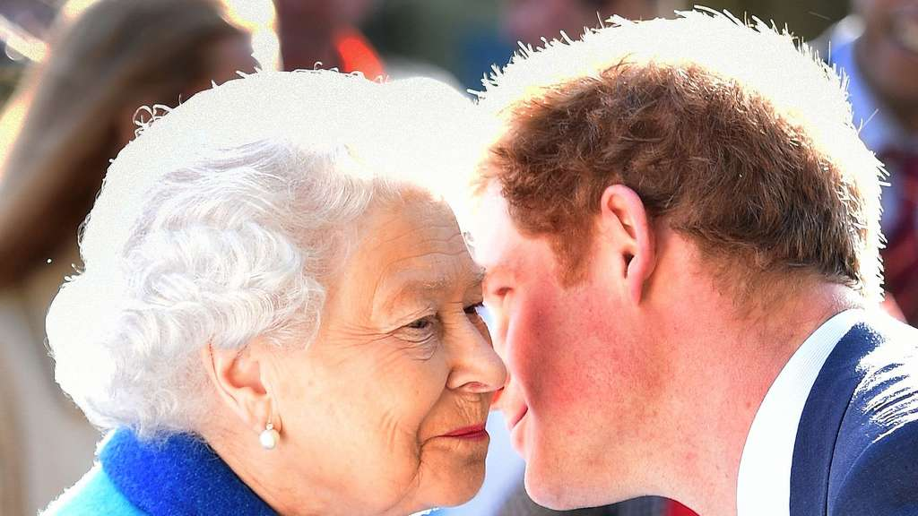 Queen und Prinz Harry.